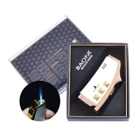 Зажигалка подарочная Baofa 4035 White