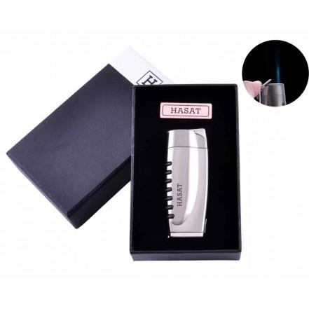 Зажигалка в подарочной коробке HASAT 4311 Silver