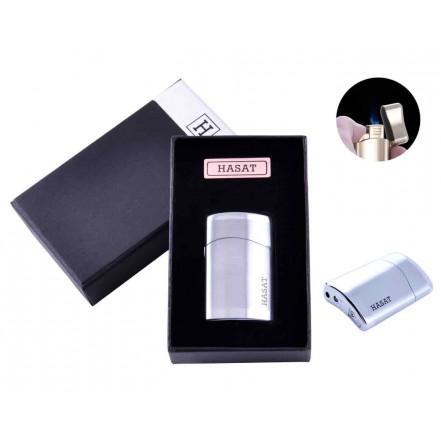 Зажигалка в подарочной коробке HASAT 4312 Silver