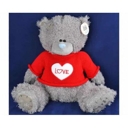 Мягкая игрушка медведь Тедди в кофте LOVE 1565-22 (22 см)