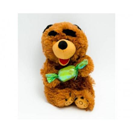 Мягкая игрушка медведь с конфетой 2119-20 (озвученная)