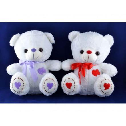 Мягкая игрушка медведь с бантиком Сердечко H-46 (31 см)