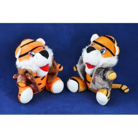 Мягкая игрушка Тигр в куртке 155113 (17 см)