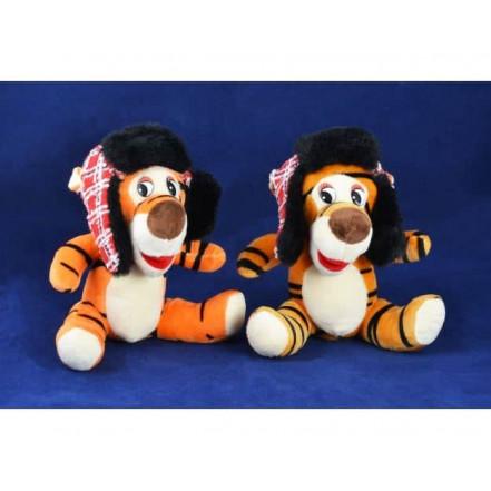 Мягкая игрушка Тигр в ушанке 155119 (19 см)