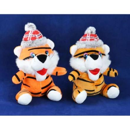Мягкая игрушка Тигр в шапке 155123 (20 см)