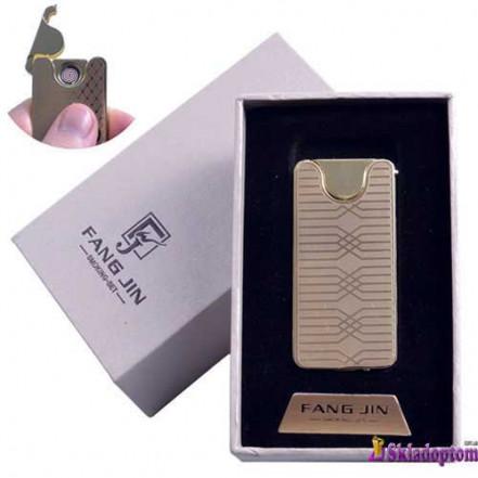 USB зажигалка в подарочной упаковке 4794C-1 (FANG JIN,двухсторонняя спираль накаливания)