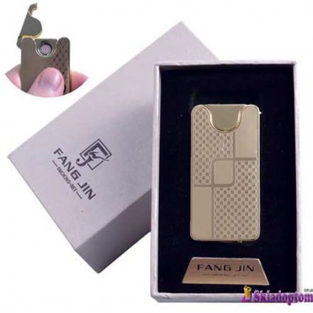 USB зажигалка в подарочной упаковке 4794C-2 (FANG JIN,двухсторонняя спираль накаливания)