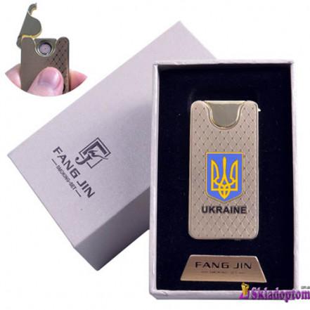 """USB зажигалка в подарочной упаковке 4795 """"Герб Украины"""" (Двухсторонняя спираль накаливания)"""