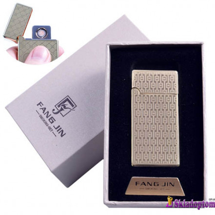 USB зажигалка в подарочной упаковке 4798B-5 (Двухсторонняя спираль накаливания)