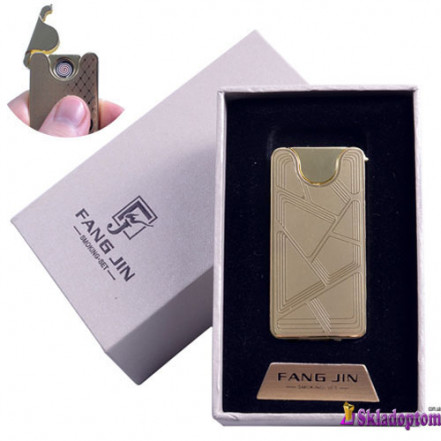 USB зажигалка в подарочной упаковке 4794B-1 (FANG JIN,двухсторонняя спираль накаливания)