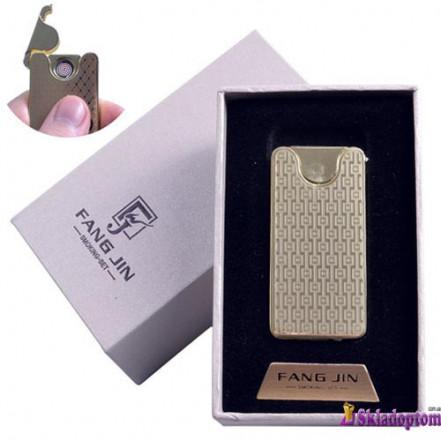 USB зажигалка в подарочной упаковке 4794B-3 (FANG JIN,двухсторонняя спираль накаливания)