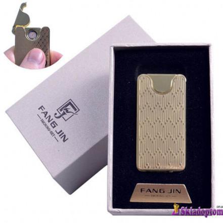 USB зажигалка в подарочной упаковке 4794B-5 (FANG JIN,двухсторонняя спираль накаливания)