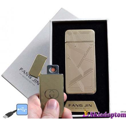 USB зажигалка в подарочной упаковке 4796B-1 (FANG JIN,спираль накаливания)