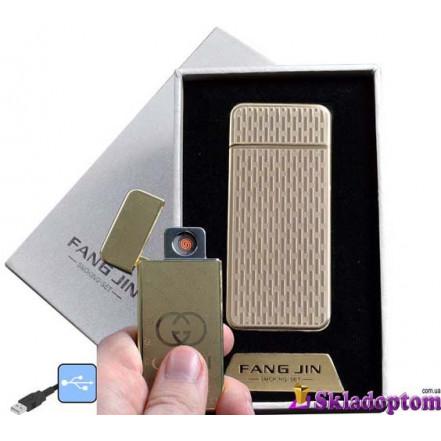 USB зажигалка в подарочной упаковке 4796B-3 (FANG JIN,спираль накаливания)