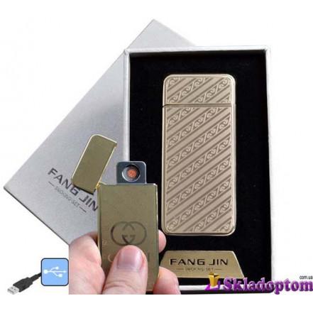 USB зажигалка в подарочной упаковке 4796B-5 (FANG JIN,спираль накаливания)