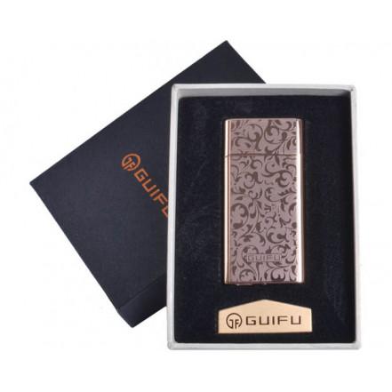 Зажигалка подарочная GUIFU 4690-5 (спираль накаливания, USB)