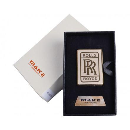 Зажигалка подарочная 4693 (Rolls Royce,спираль накаливания, USB)