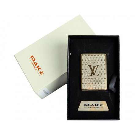 Зажигалка подарочная 4693 (Louis Vuitton ,спираль накаливания, USB)