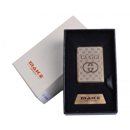 Зажигалка подарочная 4693 (Gucci,спираль накаливания, USB)