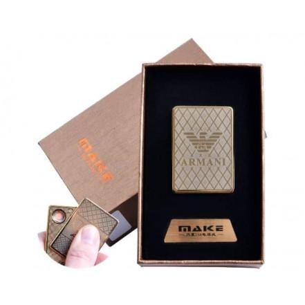 Зажигалка подарочная 4693 (Giorgio Armani,спираль накаливания, USB)