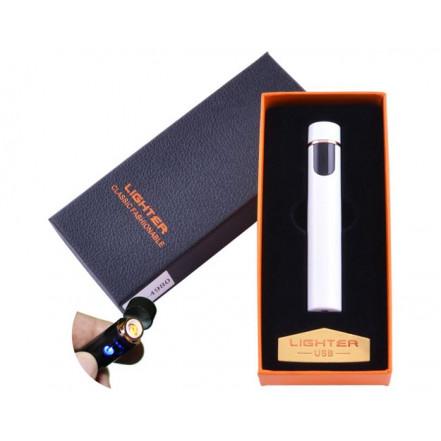 USB зажигалка в подарочной упаковке Lighter 4980 White (Спираль накаливания)
