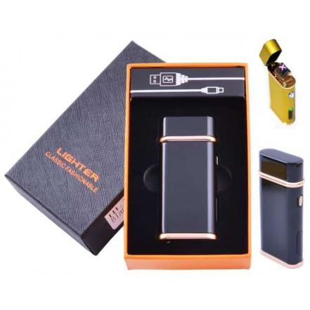 Электроимпульсная зажигалка в подарочной коробке Lighter HL-104 Black