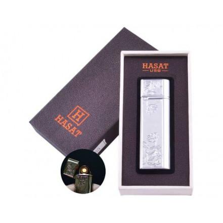 USB зажигалка в подарочной коробке HASAT HL-65-2 (Спираль накаливания)