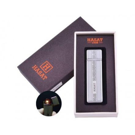 USB зажигалка в подарочной коробке HASAT HL-66-4 (Спираль накаливания)