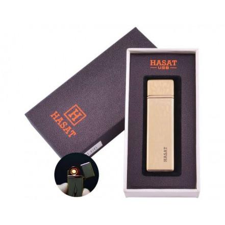 USB зажигалка в подарочной коробке HASAT HL-66-5 (Спираль накаливания)