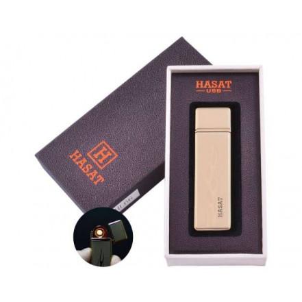 USB зажигалка в подарочной коробке HASAT HL-66-6 (Спираль накаливания)