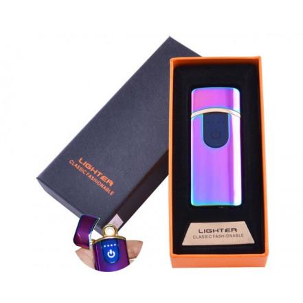 USB зажигалка в подарочной коробке Lighter HL-42 Chameleon (Спираль накаливания)
