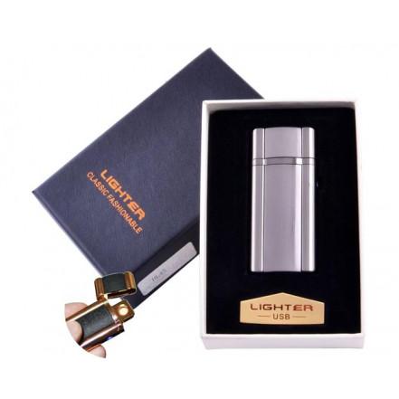 USB зажигалка в подарочной коробке Lighter HL-45-1 (Спираль накаливания)
