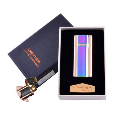 USB зажигалка в подарочной коробке Lighter HL-45-2 (Спираль накаливания)