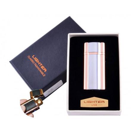 USB зажигалка в подарочной коробке Lighter HL-45-3 (Спираль накаливания)