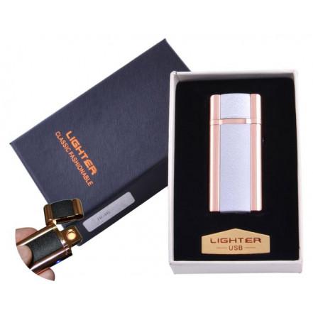 USB зажигалка в подарочной коробке Lighter HL-46-3 (Спираль накаливания)