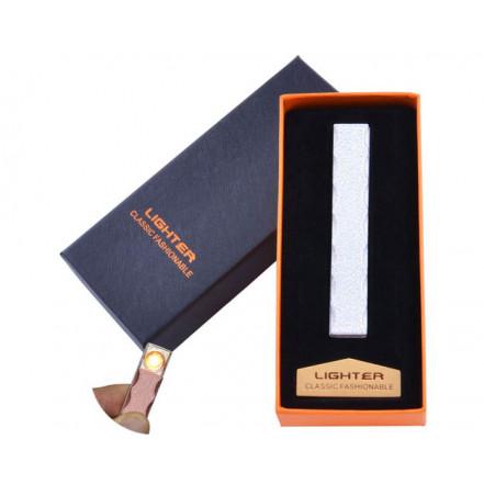 USB зажигалка в подарочной коробке Lighter HL-47 White (Спираль накаливания)