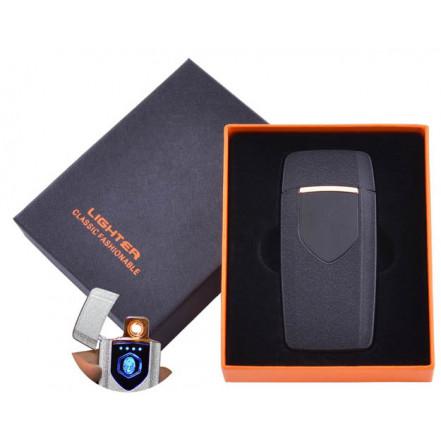 USB зажигалка в подарочной коробке Lighter HL-57 Black (Спираль накаливания)