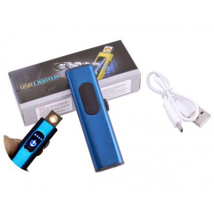 USB зажигалка в подарочной коробке Lighter HL-59 Blue (Спираль накаливания)