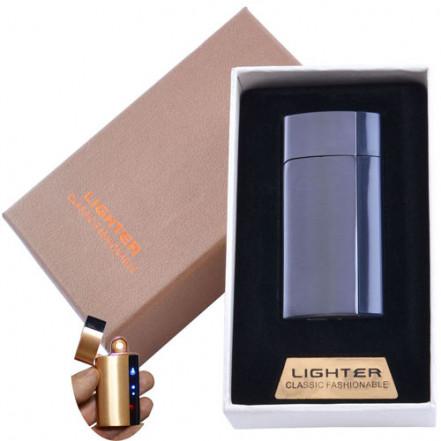 USB зажигалка в подарочной коробке Lighter 4981 Black (Спираль накаливания)