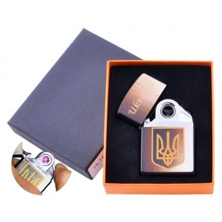 USB зажигалка в подарочной коробке Украина HL-145-1 электроимпульсная