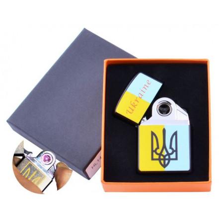 USB зажигалка в подарочной коробке Украина HL-145-3 электроимпульсная