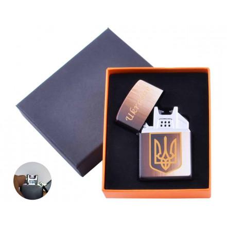 USB зажигалка в подарочной коробке Украина HL-146-1 электроимпульсная