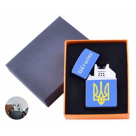USB зажигалка в подарочной коробке Украина HL-146-2 электроимпульсная