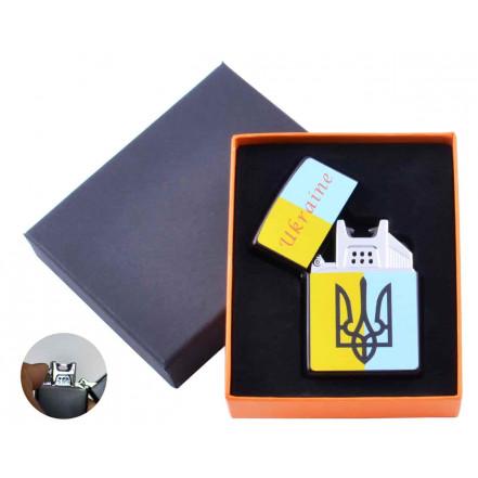 USB зажигалка в подарочной коробке Украина HL-146-3 электроимпульсная