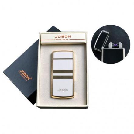 USB зажигалка JOBON 4780-3 (Электроимпульсная,две перекрестные молнии,индикатор заряда)