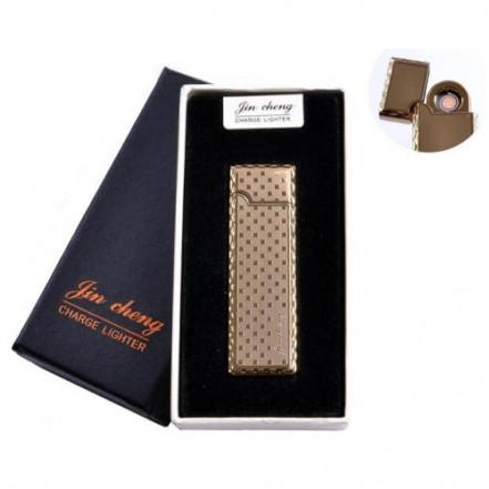 """USB зажигалка в подарочной упаковке 4793-1 (""""Jin cheng"""",двухсторонняя, спираль накаливания)"""