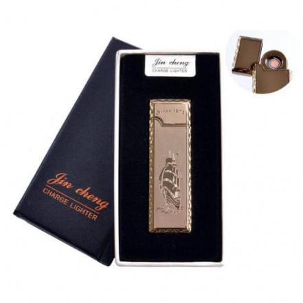 """USB зажигалка в подарочной упаковке 4793-3 (""""Парусник"""",двухсторонняя, спираль накаливания)"""