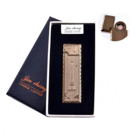 """USB зажигалка в подарочной упаковке 4793-5 (""""Эйфелева башня"""",двухсторонняя, спираль накаливания)"""