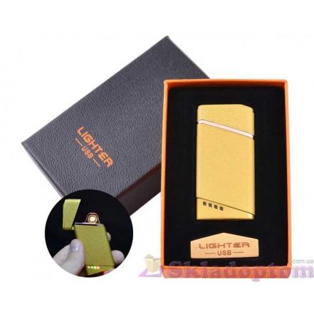 USB зажигалка в подарочной упаковке HL-18 Gold (Спираль накаливания)