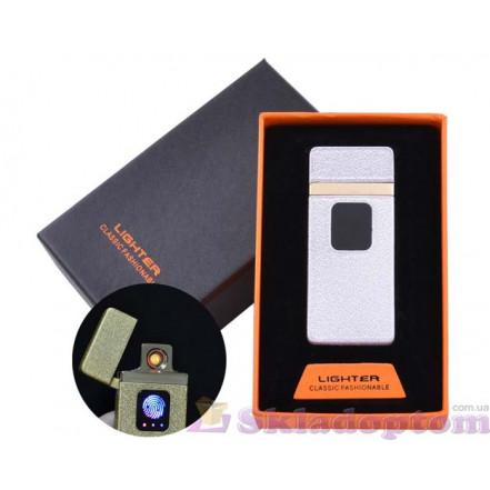 USB зажигалка в подарочной упаковке HL-7 White (Спираль накаливания)